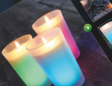 Air Wick Color Changing Candle Microsite