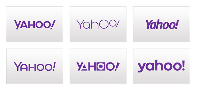 Yahoo Logo Rejects: 30 Days of Change